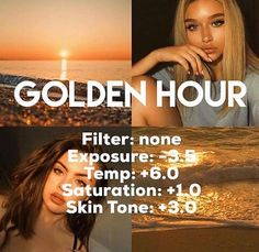Golden hour VSCO filter code News - Vsco Filters Lightroom Presets Photography Filters, Photography Editing, Photography Hacks, Vsco Photography Inspiration, Tumblr Photography Instagram, Photography Hashtags, Wedding Photography, Photography Courses, White Photography