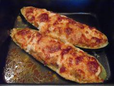 Töltött cukkini csirkemellel Zucchini, Food Porn, Food And Drink, Gluten, Vegan, Vegetables, Healthy, Kitchens, Vegetable Recipes