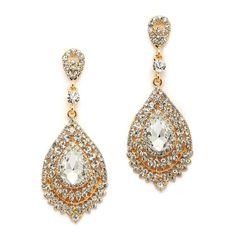 Dramatic Black Diamond Crystal Statement Earrings