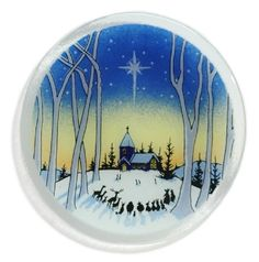 Peggy Karr Handcrafted Art Glass Silent Night Plate, Round, 8-Inch *** You can find more details by visiting the image link.