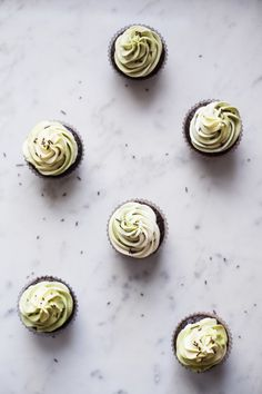 Matcha Chocolate Twist Cupcake. Not only is Matcha in the buttercream, but also the chocolate cake! #matcha #dessert #cupcake