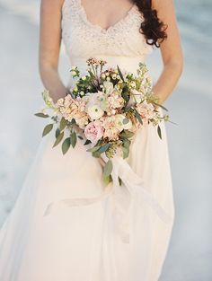 Romantic beach wedding inspiration | Photo by Jennifer Pharr Photography | Read more - http://www.100layercake.com/blog/?p=77292