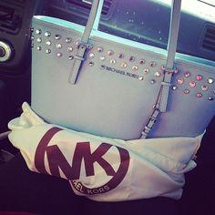 micheal kors handbag with silver studs