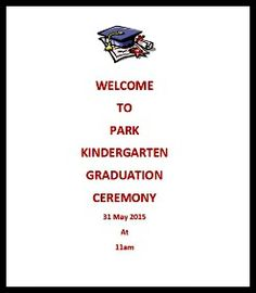 Kindergarten Graduation Program  Great Expectations  Poem  Pre