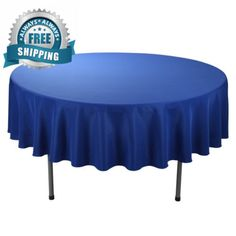 Ordinaire E Tex 70 Inch Round Polyester Tablecloth Royal