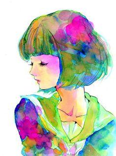 beautiful watercolor - artist unknown