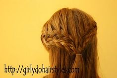 So this mom came up with an amazing way to make that newfangled 'waterfall braid' even more interesting!  -KWA