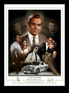 James Bond Movie Posters, Iconic Movie Posters, James Bond Movies, Iconic Movies, Old Movies, Sean Connery James Bond, Daniel Craig James Bond, Tim Burton, Aston Martin