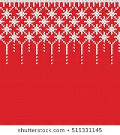 Imágenes similares, fotos y vectores de stock sobre Knitted Christmas and New Year pattern; 720203080 | Shutterstock Knitting Charts, Knitting Patterns Free, Free Knitting, Knitting Socks, Fair Isle Pattern, Fair Isle Knitting, Cross Stitch Flowers, Sweater Design, Amigurumi