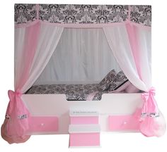 Sophia Princess TODDLER Canopy Bed, Girls Bed, Girls Bedroom Furniture
