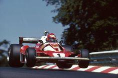 """Ferrari 312 T2 -028, Niki Lauda, 1976 German GP, Nurburgring at the """"Pflanzgarten"""""""