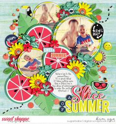 Digital scrapbook layout using Singleton 172 - Summer Sensation 13 template by Cindy Schneider; and Summer Vibes by Amanda Yi, Studio Basic Designs, and Two Tiny Turtles (found at Sweet Shoppe Designs)