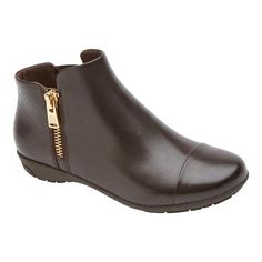Rockport Women's Total Motion Nea Captoe Bootie, Size: 7 M, Ebano Calf  Leather