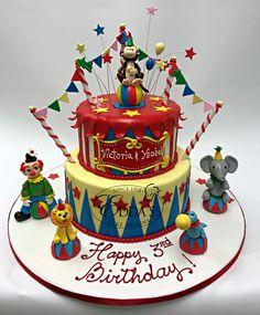 Circus-themed #birthdaycake... ✔️ #EddasCakes - http://eddascakes.com