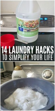 Simplify the your life with these 14 laundry cleaning tips.