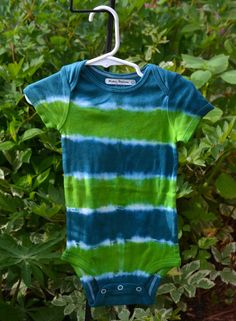 18 month Green and Blue Tie Dye Short Sleeved by wumzydesigns
