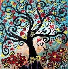 Top Five Folk Art Paintings | HAPPY LITTLE TREE - by LUIZA VIZOLI from FOLK ART