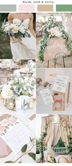 Neutral, gold, blush