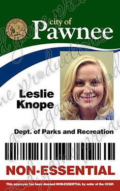 a3c326d0c Parks and Recreation ID Badge Leslie Knope by GoodGameProductions Family  Costumes