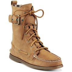 Sperry Top-Sider Cloud Logo Starpoint Boot. ($75) ❤ liked on Polyvore featuring shoes, boots, ankle booties, ankle boots, tan distressed leather, bootie boots, tan ankle boots, tan ankle booties and short boots