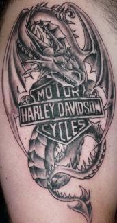 FatBoyRider's Black Dragon Tattoo Harley Davidson Dragon Logo ...