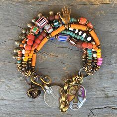 Boho Hippie Armband ethnische von BeadStonenSkin auf Etsy