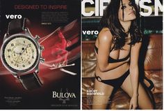 BULOVA 2010 magazine ad KACEY BARNFIELD advertisement print watch Grange Hill