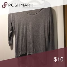 Drapey Hi-low hem top Low/wide scoop neck with half-length sleeves and high-low hem, soft material, am guessing viscose or rayon or mix with cotton. J. Crew Tops Tees - Long Sleeve