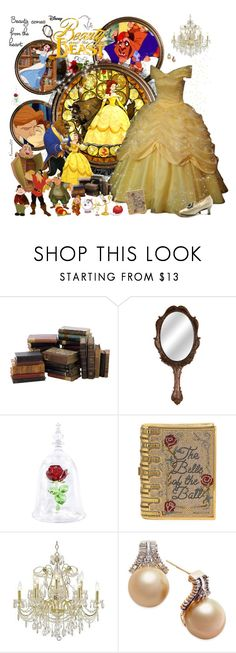 """Belle,Disney's ""Beauty and the Beast""..."" by nannerl27forever ❤ liked on Polyvore featuring Disney, ADAM, Lumière, Judith Leiber, James R. Moder, belle, fairytale, BeautyandtheBeast and polyvoreeditorial"