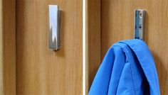 Use hideaway hooks for hanging up outerwear.   44 Cheap And Easy Ways To Organize Your RV/Camper