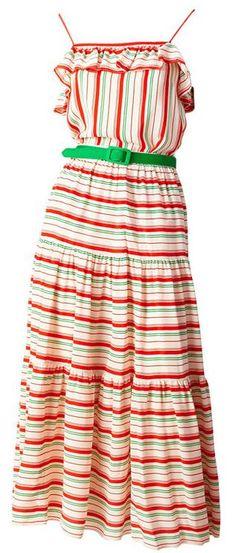 1970s striped Oscar de la Renta dress - perfect for a summer time