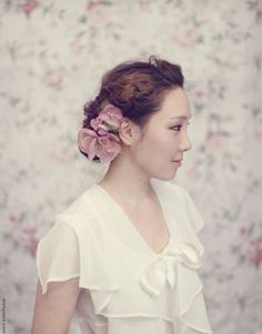 Floral Hair Accessory - A soft and organic fabric flower hairclip in a neutral colour will be a favourite of bridesmaids who prefer the minimalist look.