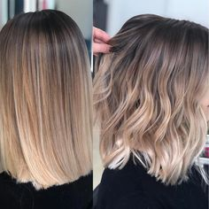 Ardona Beauty Salon on quot;Straight or waves on this Blend Balyage . Balayage Straight Hair, Short Straight Hair, Hair Color Balayage, Balyage Short Hair, Short Balayage, Medium Balayage Hair, Ombre Medium Hair, Balyage Bob, Straight Shoulder Length Hair Cuts