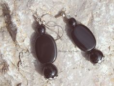 Design by Suzi: ◠◦◡ ❦ Náušničkový ❦◡◦◠ Black Pebbles, Handmade Jewellery, Drop Earrings, Jewelry, Design, Handmade Jewelry, Jewlery, Jewels, Jewerly