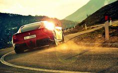 Ferrari F12 Fast Driving Road Wallpaper - http://www.gbwallpapers.com/ferrari-f12-fast-driving-road-wallpaper/ (Fast Driving, Ferrari F12, Road, Wallpaper / Cars)