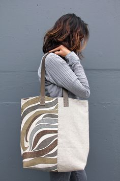 Handmade+Vintage+MidCentury+and+Irish+Linen+Tote+di+rizomdesigns,+$280,00