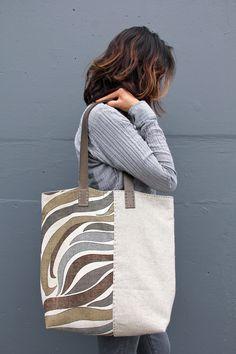 Handmade+Vintage+MidCentury+and+Irish+Linen+Tote+di+rizomdesigns,+$280,00