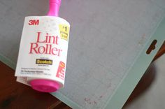 """wash my mats with hot water and a dribble of Dawn liquid dish detergent. I use the scrubby side of my sponge and gently scrub in a circular motion - you Tip #1: lint roller  Tip #2 was in the comments- """"You will be amazed what comes off the mat. Rinse with hot water then air dry and it will be just like new, no more need to apply adhesive."""""""