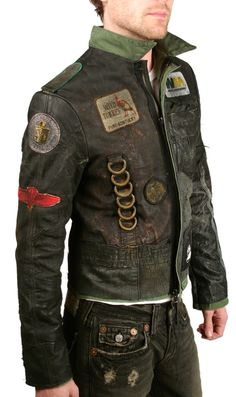 "Men's JUNKER - ""TANK"" Custom Leather Jacket"