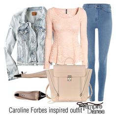 """Caroline Forbes inspired outfit/tvd"" by tvdsarahmichele ❤ liked on Polyvore"