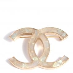 Mother of pearl Chanel Brooch