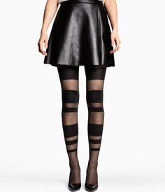 Interesting but I like them.  Black stripe tights