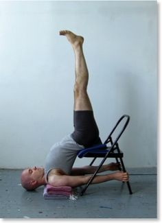 Modified Shoulder Stand--need to bring a chair to yoga with me next time to try this!