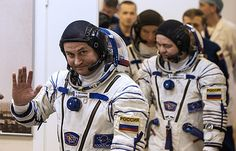 Soyuz spacecraft carrying 3 crewmembers undocks from ISS