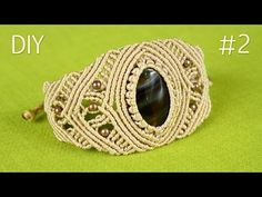 How to Make a Macrame Bracelet with Stone - Part #2 - YouTube