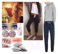 """""""Chill with me """" by wweluvr ❤ liked on Polyvore featuring Coyuchi, Forever 21, Le Coq Sportif, women's clothing, women, female, woman, misses and juniors"""
