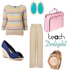 Warm tones and pastels - Teacher Fashion, created by TeachDelight