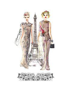 Paris Style - Fashion Illustration