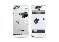Apple iPhone 5 skin break screen iphone 5 cover with by UltraCase, $12.99