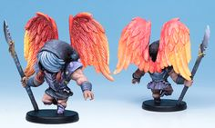 The Fallen Angel miniature painted by Mark Maxey.